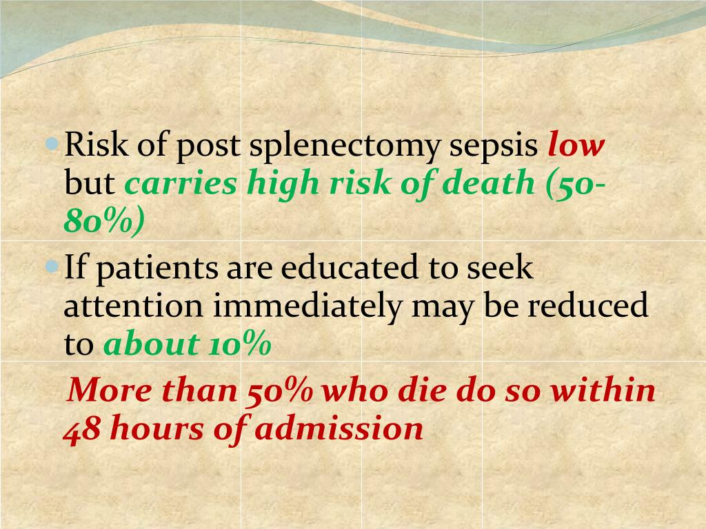 PPT - Post splenectomy infection PowerPoint Presentation. free download - ID:3068511