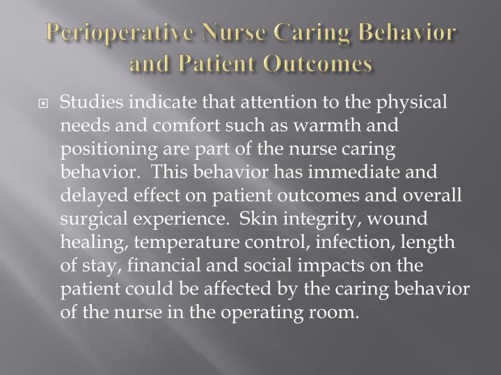 PPT  Perioperative Nurse Caring Behaviors PowerPoint