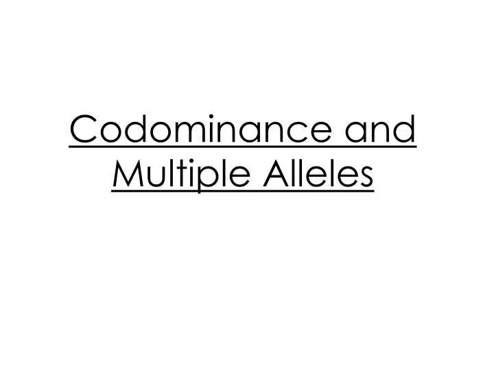 Crosses Involving Multiple Alleles Worksheet Answers