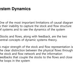 system dynamics one of the most important limitations of causal diagram is their inability to capture the stock and flow structure of systems and to see  [ 1024 x 768 Pixel ]