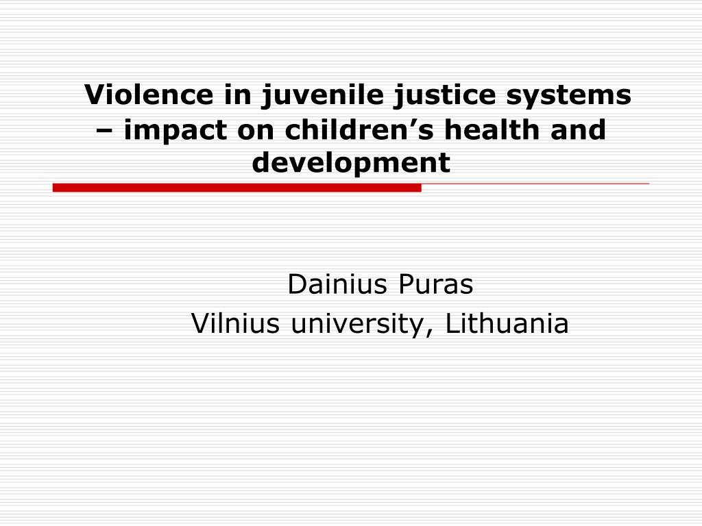 PPT - Violence in juvenile justice systems