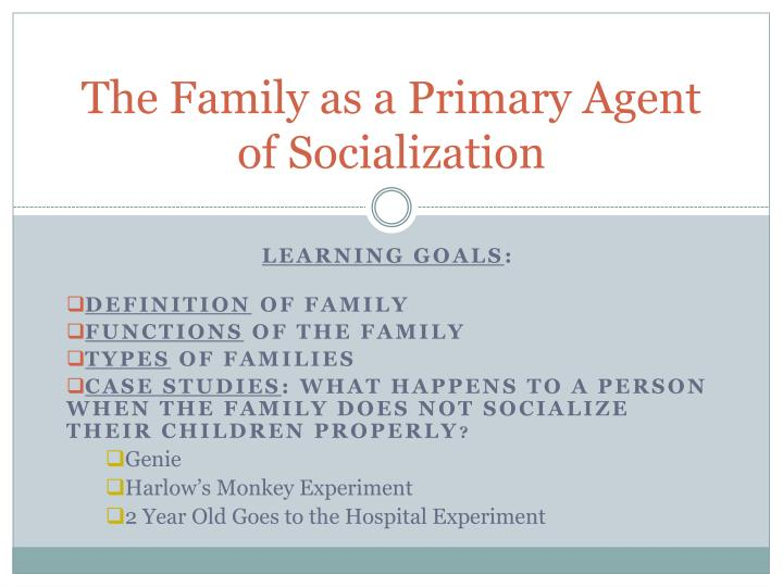 PPT - The Family as a Primary Agent of Socialization PowerPoint Presentation - ID:3131492