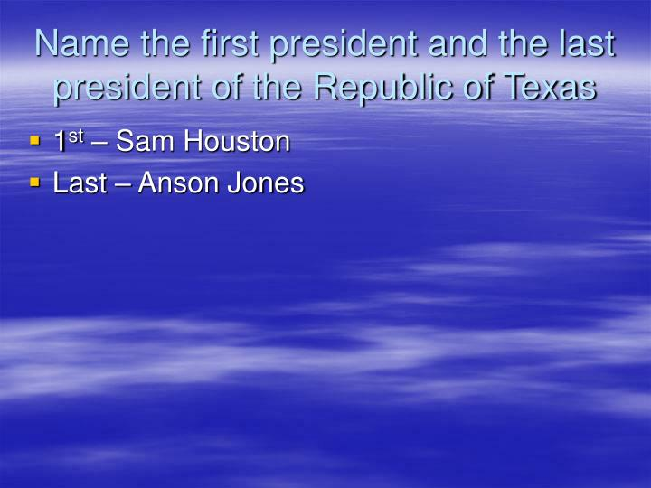 PPT Who Were The Major Leaders That Lead Texas Down The Road To Independence PowerPoint