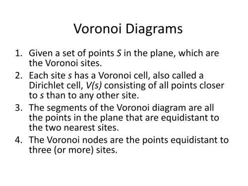 small resolution of voronoi diagrams n
