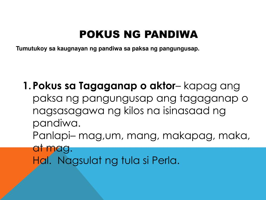 hight resolution of Ng Pandiwa Pokus Worksheets   Printable Worksheets and Activities for  Teachers