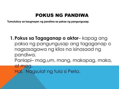 small resolution of Ng Pandiwa Pokus Worksheets   Printable Worksheets and Activities for  Teachers