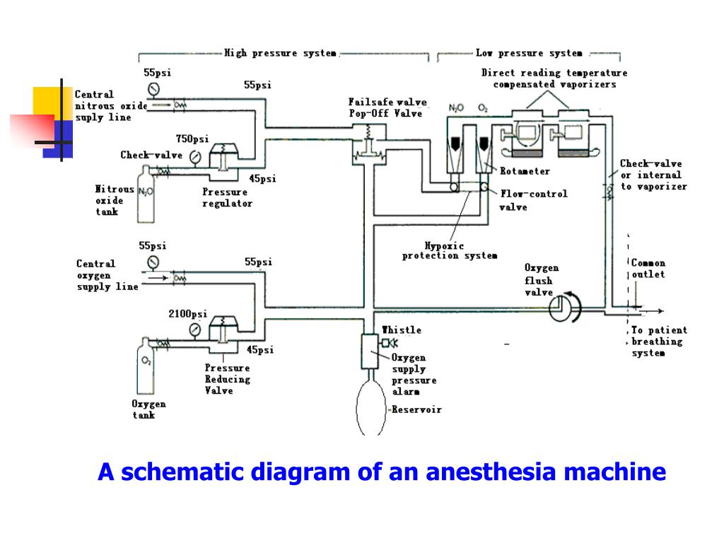 hight resolution of a schematic diagram of an anesthesia machine