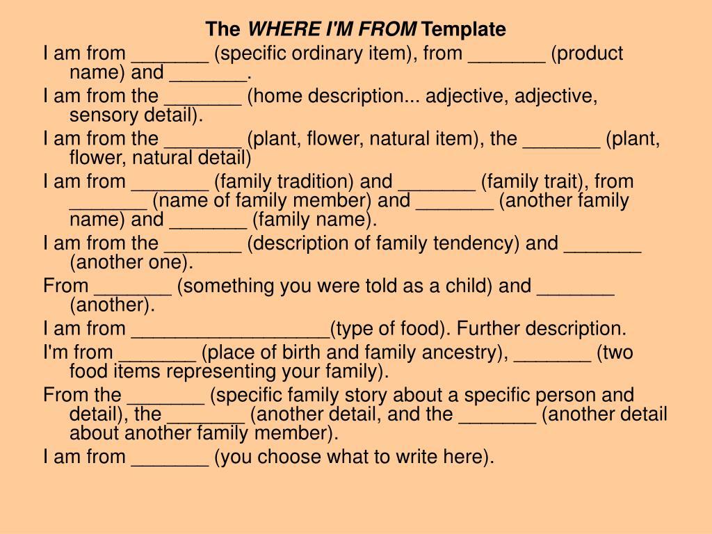 Home Description Adjective Sensory Detail