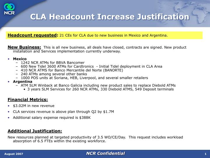 Ppt Cla Headcount Increase Justification Powerpoint Presentation Free Download Id 3334008