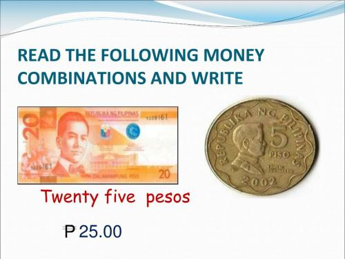 small resolution of PPT - READING \u0026 WRITING MONEY VALUES THROUGH P1000 PowerPoint Presentation  - ID:3348275