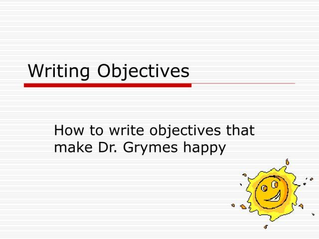 PPT - Writing Objectives PowerPoint Presentation, free download