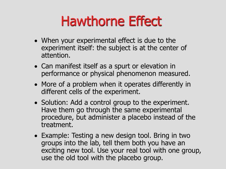 PPT - Hawthorne Effect PowerPoint Presentation - ID:3501464