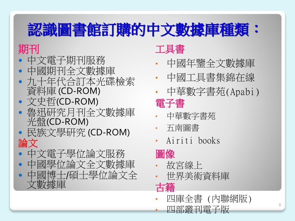 PPT - 圖書館電子資源工作坊 PowerPoint Presentation - ID:3543701