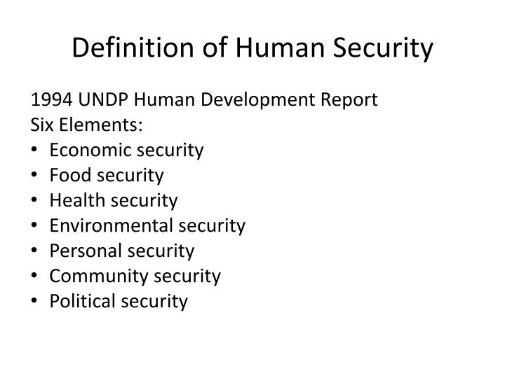 Personal Security Undp