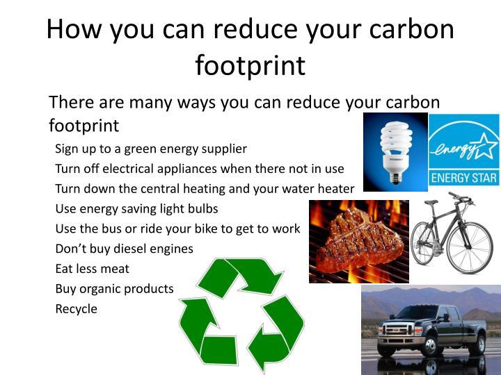 PPT - Carbon Footprints PowerPoint Presentation - ID:3596462