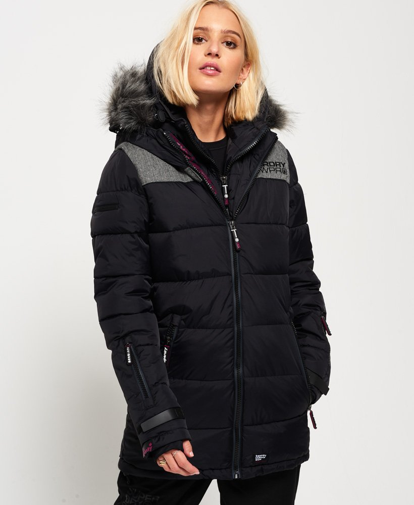 wholesale dealer 9c274 bf74f Winterjacke Schwarz Superdry Damen