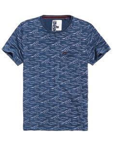 Superdry whistler all over print lite  shirt also mens in oil wash navy rh
