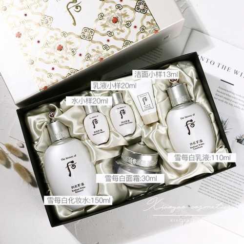 后的雪系列套盒有哪些 共振享雪美白水乳霜套三件套裝禮盒 - 悠悠娛樂網