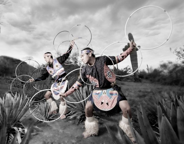 Duncan Family Hoop Dancers
