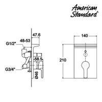 Jual Kran Shower Mixer American Standard Active in Wall ...