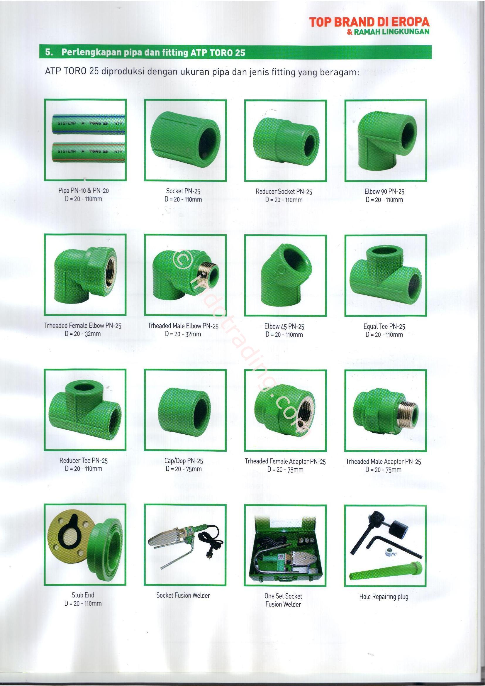 Sell Ppr Pipe Toro From Indonesia By CV Mitra Usaha