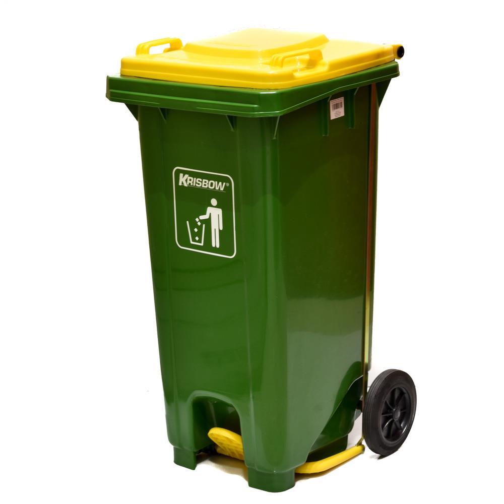 Jual Tempat Sampah Krisbow Pedal 120 Liter Dust Bin Injak