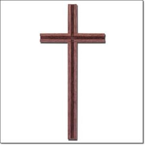 Jual Salib Dinding Kayu Polos Lis Lubang Panil 20cm