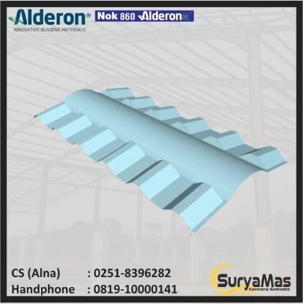 nok atap baja ringan jual upvc alderon id 860 mm harga murah bogor oleh