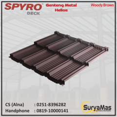 Baja Ringan Utama Truss Sell Spyro Metal Tile Helios Type Thick 0 23 Mm Woody Brown Color
