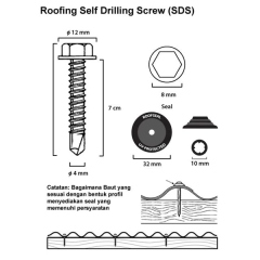 Harga Baut Roofing 4cm Sell Screw Drilling Roofseal