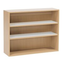 Wall-mounted bookcase, 800x1000x300 mm, beech | AJ ...