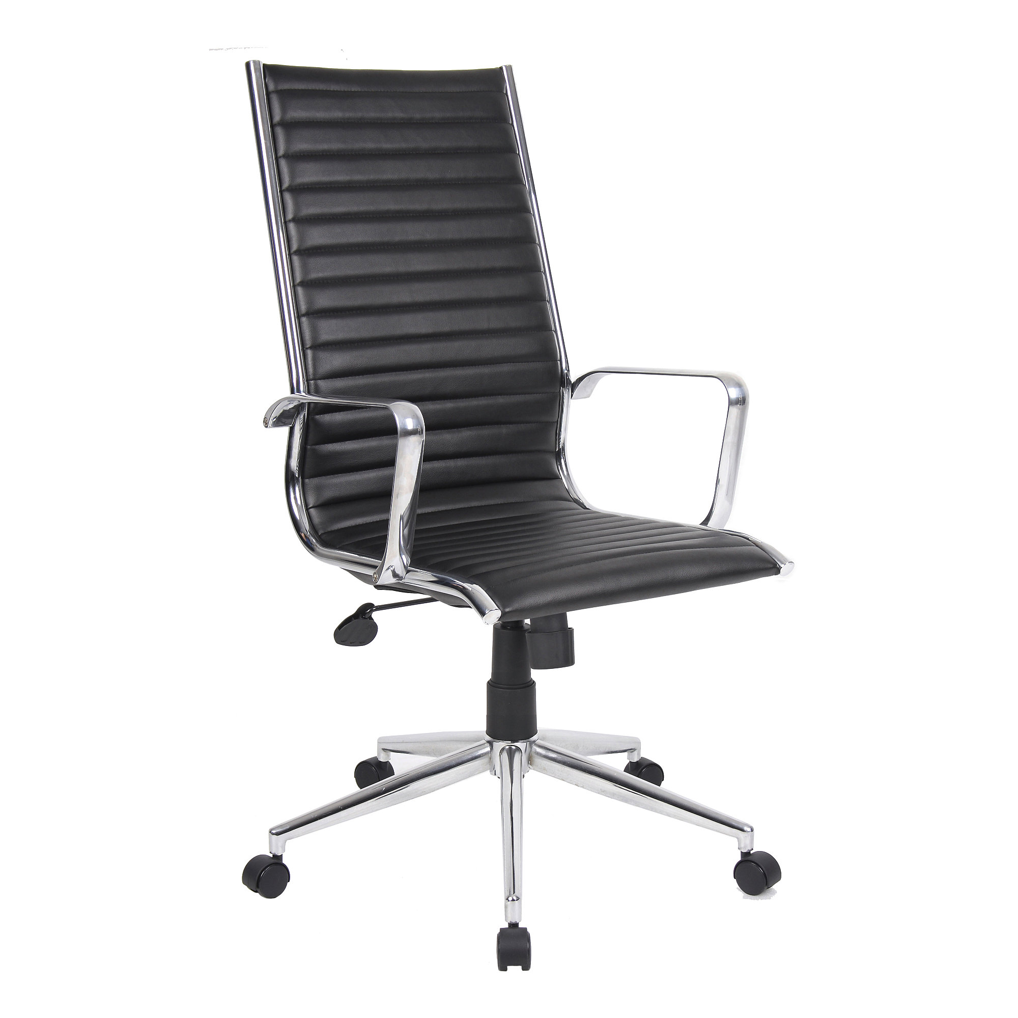 How To Adjust Office Chair High Back Faux Leather Office Chair Liphook Black Aj Products Ireland