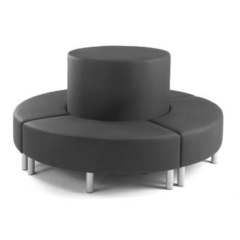 modular sofas ireland sofa and loveseat clearance aj products lisa circular black synthetic leather