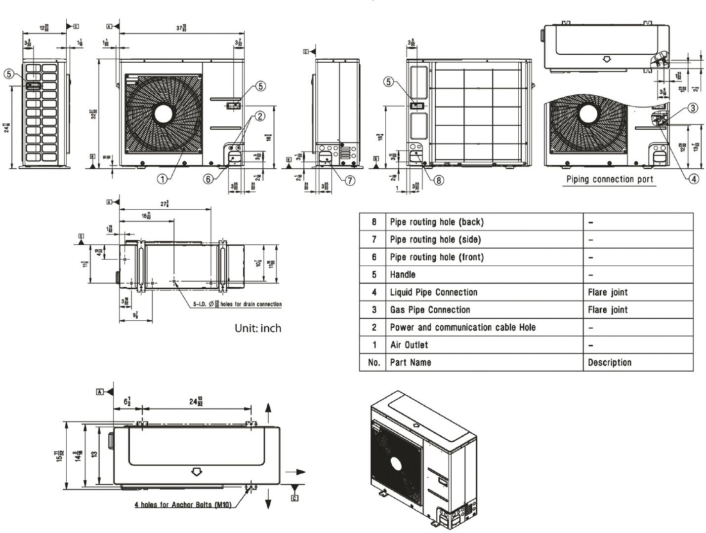 Lg Lc247hv Air Conditioner Cooling Area