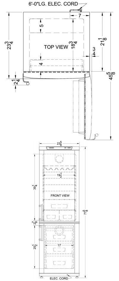 Summit FFBF171SS 24 Inch Counter Depth Bottom Freezer