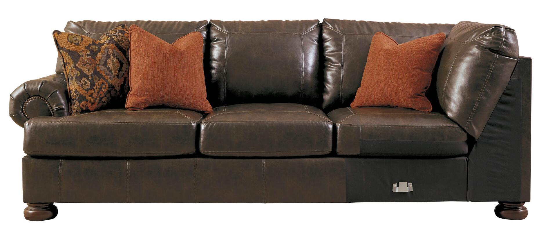 left arm return sofa best brand in singapore benchcraft 316005666 nesbit durablend series stationary ...