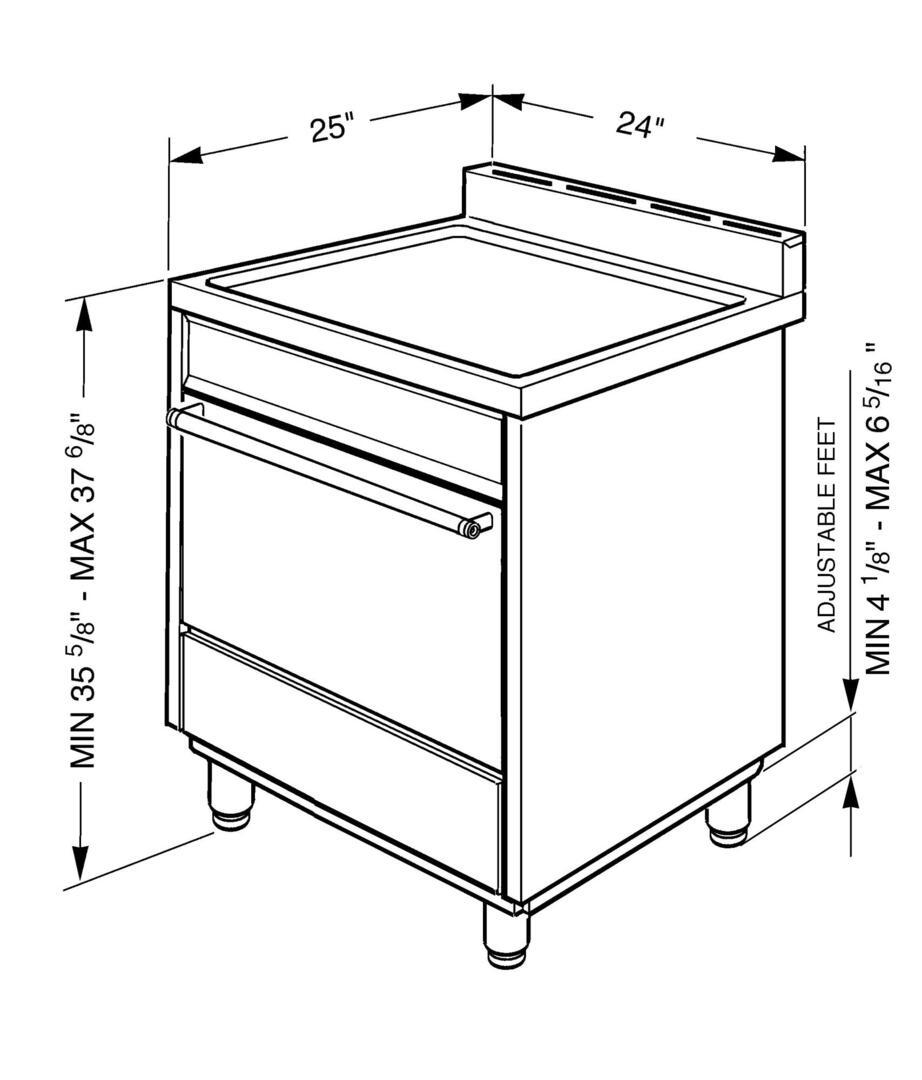Smeg C24GGXU 24 Inch Gas Freestanding Range with Sealed Burner Cooktop, 2.8 cu. ft. Primary Oven