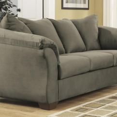 Darcy Sofa Chaise Ashley Furniture Big Pillows Signature Design By Mocha