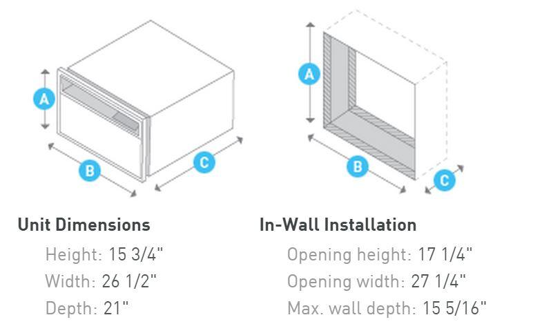 Friedrich WE12D33 Wall Air Conditioner Cooling Area