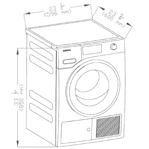 Miele TWI180WP 24 Inch White 4.026 cu. ft. Electric Dryer