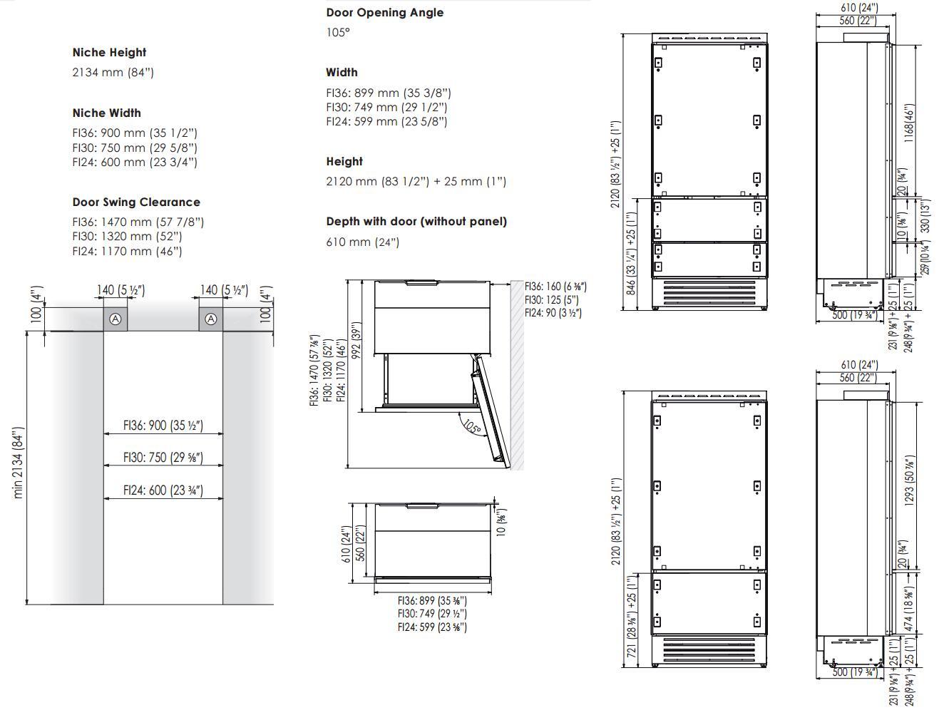 Fhiaba Fi30biro 30 Inch Integrated Series Counter Depth