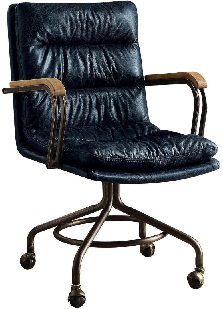 harith high back leather executive chair black covers to hire acme furniture 92417 22 inch transitional office appliances 1