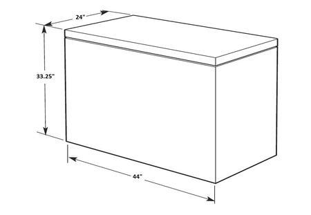 Amana AQC0902DRW 44 Inch Freestanding Chest Freezer, in