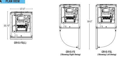 Hoshizaki CR1S-FS 28 Inch Commercial Series Freestanding