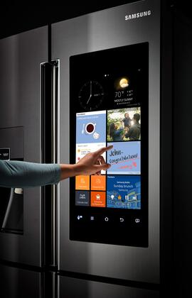 Samsung RF22K9581SG 36 Inch Family Hub Series Counter Depth 4 Door French Door Refrigerator With