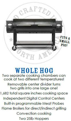 Louisiana Grills 51750 Freestanding Grill, in Black