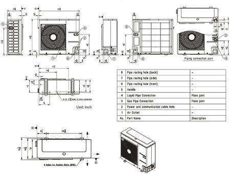 LG LC187HV Ceiling Cassette Single Zone Mini Split System