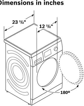 Bosch WAP24201UC Axxis 24 Inch 2.2 cu. ft. Capacity