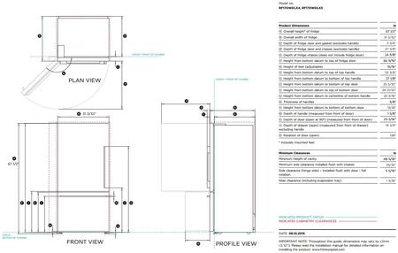 Fisher Paykel RF170WDRX5 32 Inch Counter Depth Bottom