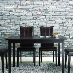 Kitchen Table Chairs Set Commercial Lighting Eden 深棕色现代厨房桌椅5件套 北美找丢网dealam Com 厨房桌椅套